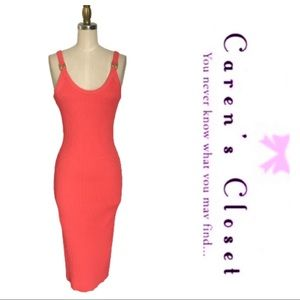 Micheal Kor's Coral Ribbed Stretch Tank Dress